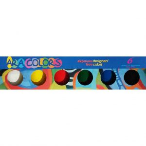 акрилни бои араколорс 6 цвята бурканче