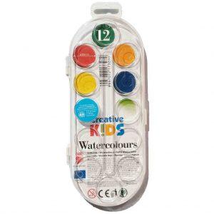 акварелни бои ико 12 цвята големи
