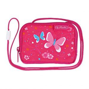 портмоне херлитц с връзка pink butterflies