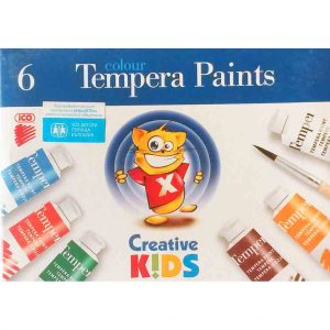 темперни бои ико 6 цвята тубички