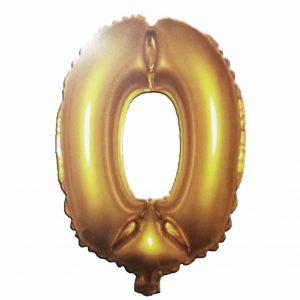 фолиев балон цифра 76,2см нула злато
