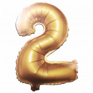фолиев балон цифра 76,2см две злато