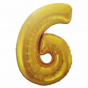 фолиев балон цифра 76,2см шест злато