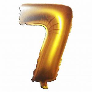 фолиев балон цифра 76,2см седем злато