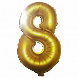 фолиев балон цифра 76,2см осем злато