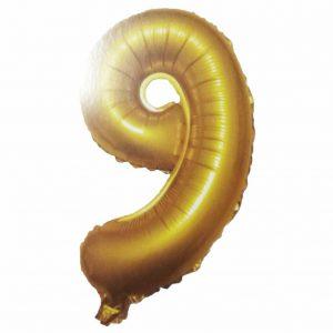 фолиев балон цифра 76,2см девет злато