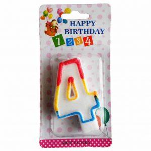 свещичка за рожден ден цифра четири