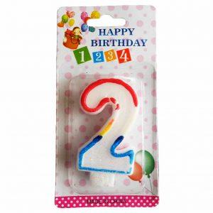 свещичка за рожден ден цифра две