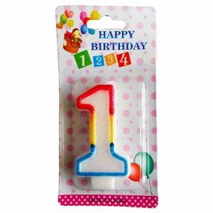 свещичка за рожден ден цифра едно