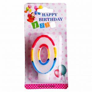 свещичка за рожден ден цифра нула