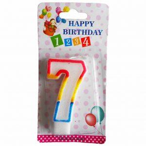 свещичка за рожден ден цифра седем