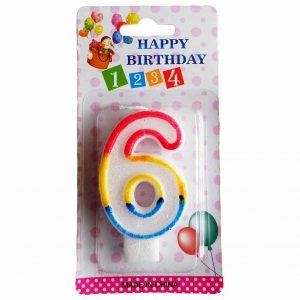 свещичка за рожден ден цифра шест