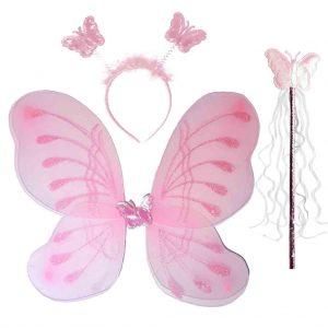 парти крила пеперуда розови