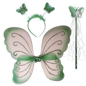 парти крила пеперуда зелени