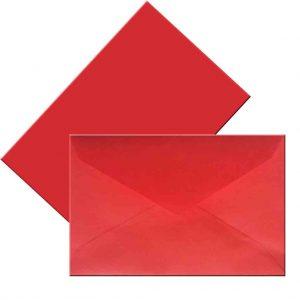 плик малък червен