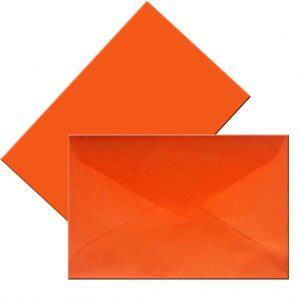 плик малък оранжев