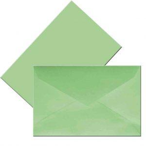 плик малък пастелно зелен