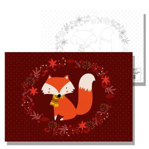 блокче за рисуване лисичка