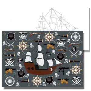 блокче за рисуване пиратски кораб