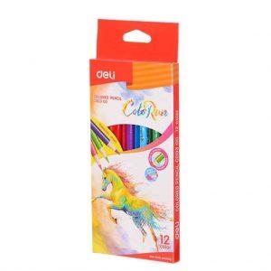 цветни моливи Deli color run 12 цвята
