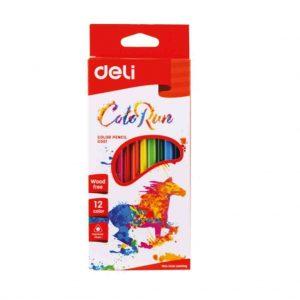 цветни моливи Deli colorun 12 цвята