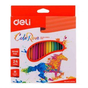 цветни моливи Deli colorun 24 цвята