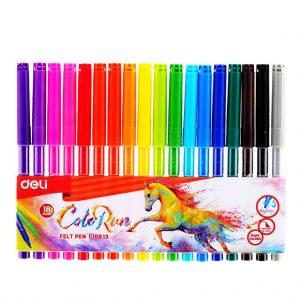 флумастери дели 18 цвята