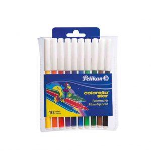 флумастери пеликан 10 цвята