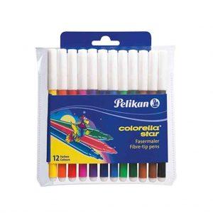 флумастери пеликан 12 цвята