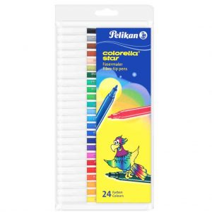 флумастери пеликан 24 цвята