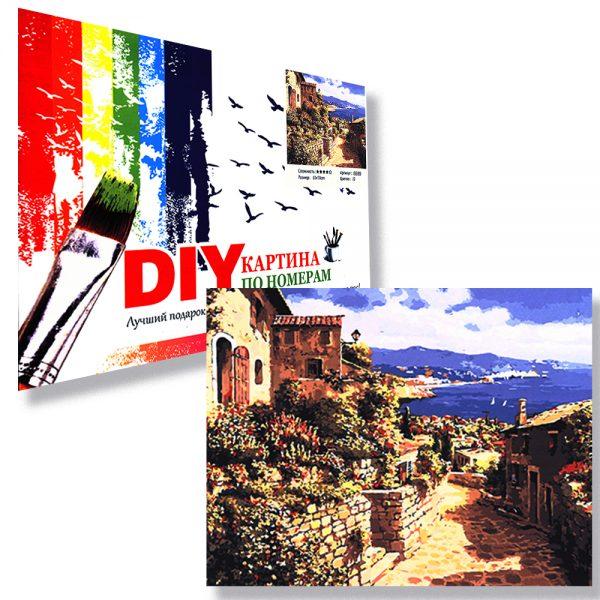 картина за рисуване по номера средиземноморски град
