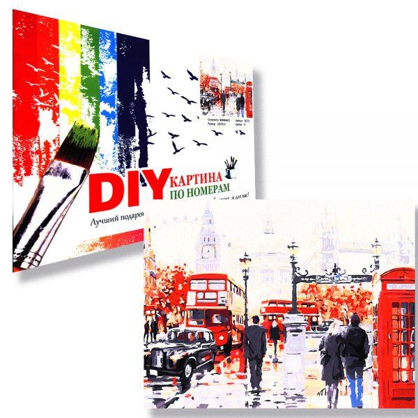 картина за рисуване по номера улица в Лондон