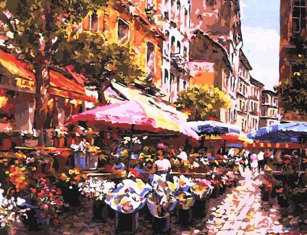 картина за рисуване по номера - магазин за цветя в Париж - Сам Парк