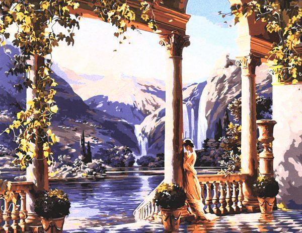 картина за рисуване по номера водопад