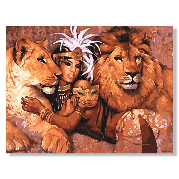 картина за рисуване по номера Савската царица