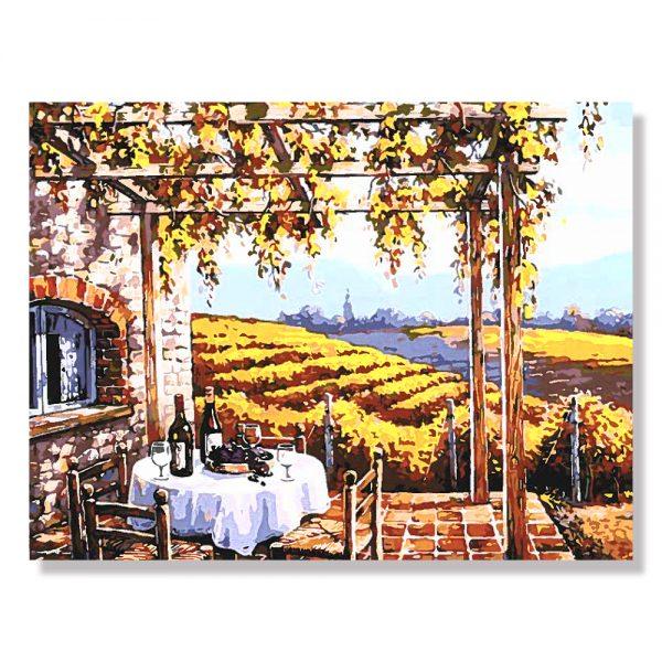 картина за рисуване по номера Тоскана