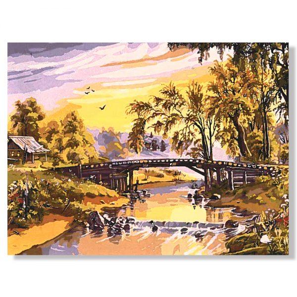 картина за рисуване по номера край реката