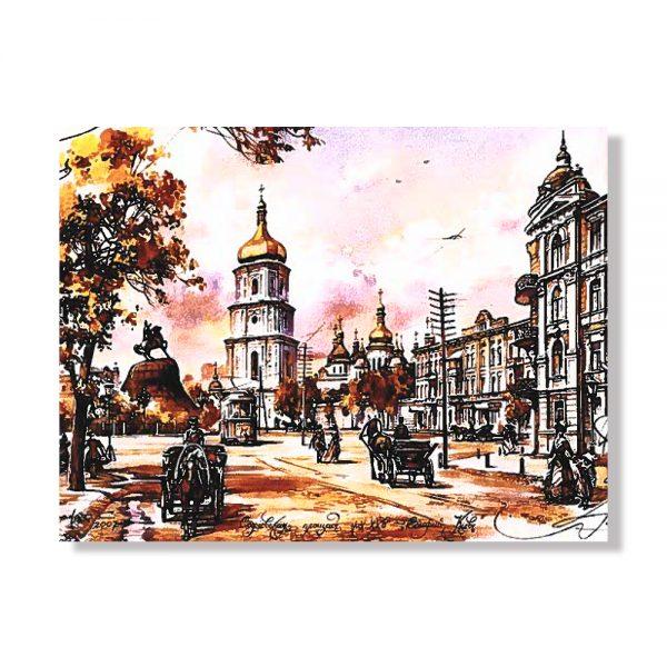 Картина за рисуване по номера площад Св. София Киев