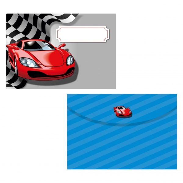плик за покана за рожден ден червена спортна кола